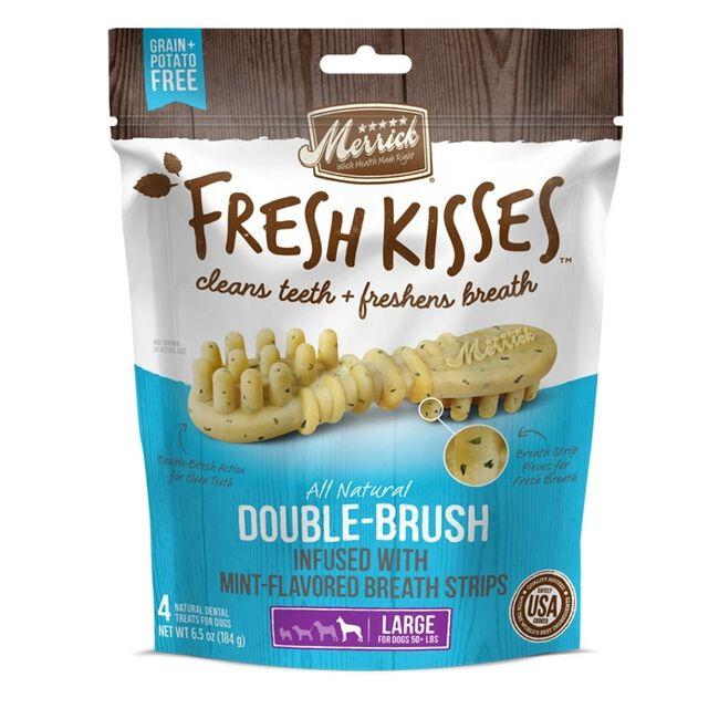 Merrick Fresh Kisses Dog Dental Treats Medium Dog Mint 5 count image number null