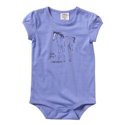 """Carhartt Girls' """"Little Filly"""" Short Sleeve Graphic Bodysuit"""