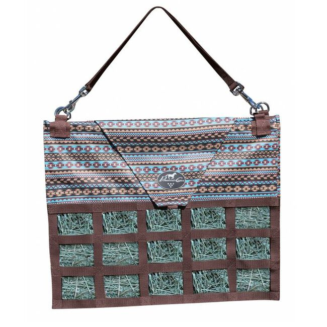 Professional's Choice Medium Feed Hay Bag Tribal/Turquoise image number null