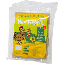 Hentastic Treats with Mealworm, Sunflower Hearts, and Oregano with Probiotics Poultry Treats