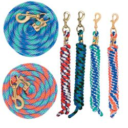 """Weaver Spiral Poly Lead Rope 5/8"""" 10'"""