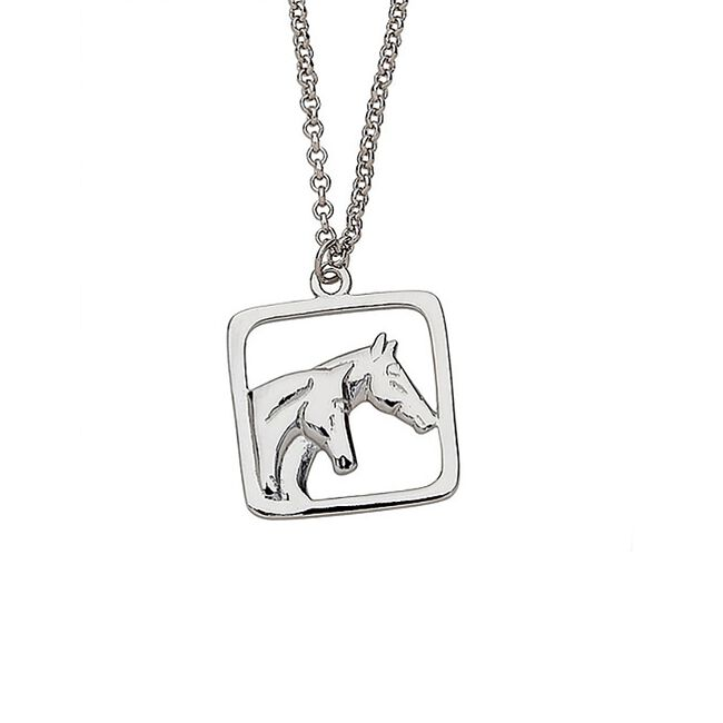Awst Sterling Silver Double Horse Necklace image number null