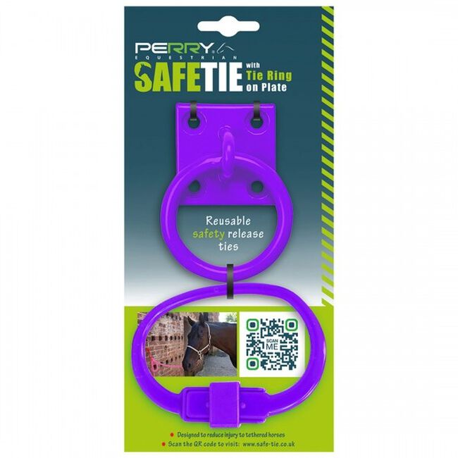 Perry Equestrian SafeTies with Tie Ring & Plate - Purple image number null