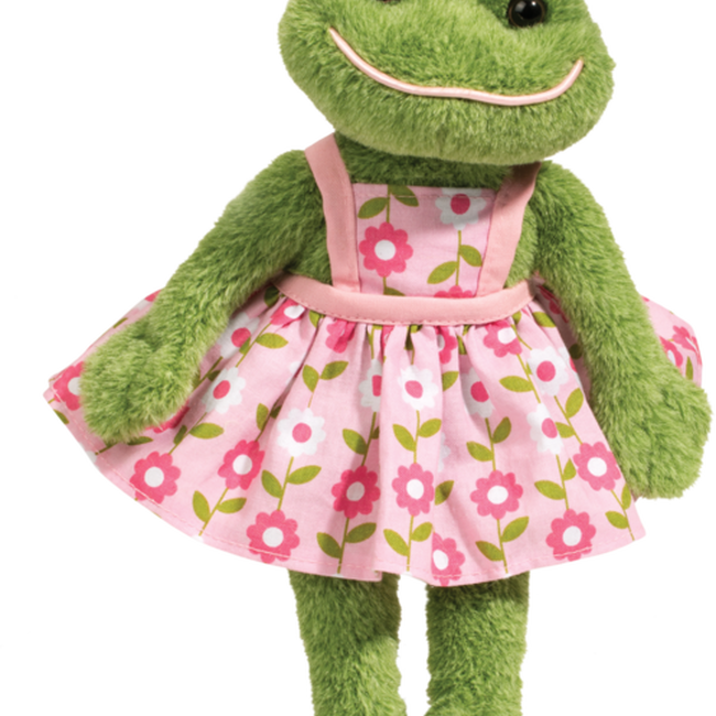 Douglas Ivy Frog Doll Plush Toy image number null