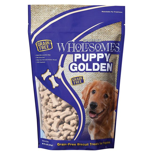 Sportmix Wholesomes Golden Dog Biscuit Treats - Puppy image number null