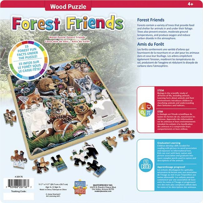 """""""Forest Friends"""" 48 Piece Wood Puzzle image number null"""