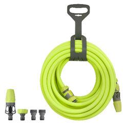 Flexzilla Premium Hybrid Polymer Garden Hose Kit with Quick Connect Attachments