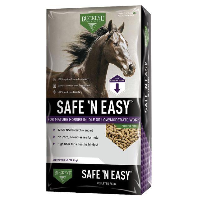 Buckeye Safe 'N Easy Pellet Horse Feed 40 lb image number null