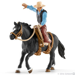 Schleich Saddle Bronc Riding with Cowboy Set