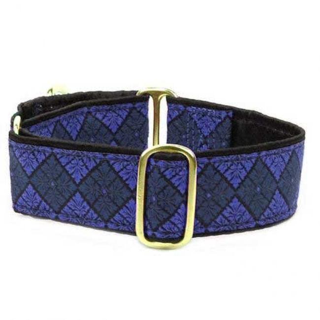 2 Hounds Design Martingale Dog Collar - Blue Tile image number null
