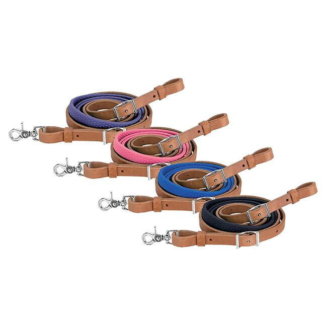 Weaver Leather Barrel Rein with Rubber Grip image number null