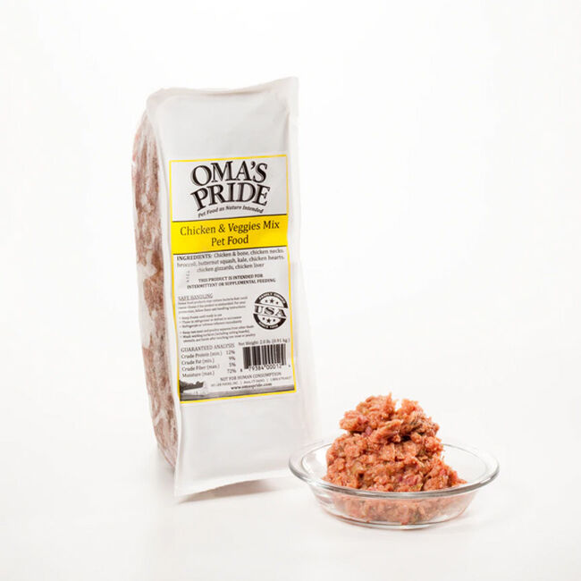 Oma's Pride Frozen Chicken & Veggie Mix for Dogs image number null