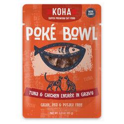 Koha Poké Bowl Tuna & Chicken Entrée in Gravy for Cats