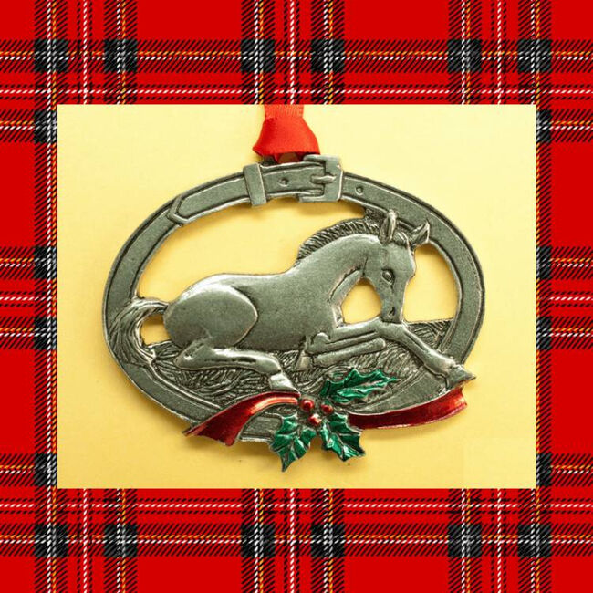 Loriece Foal Horse Pewter Christmas Ornament image number null