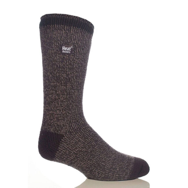 Heat Holders Men's Original Twist Socks - Earth Brown/Mid Brown Twist image number null