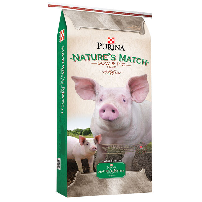 Purina Nature's Match Sow & Pig Complete Feed  image number null