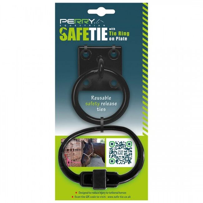 Perry Equestrian SafeTies with Tie Ring & Plate - Black image number null