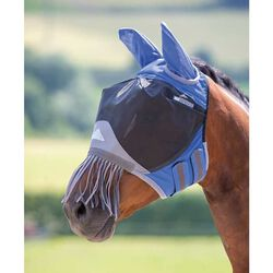 Shires Deluxe Fly Mask with Nose Fringe