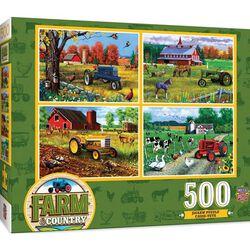 Farm & Country 500 Piece 4 Puzzle Set