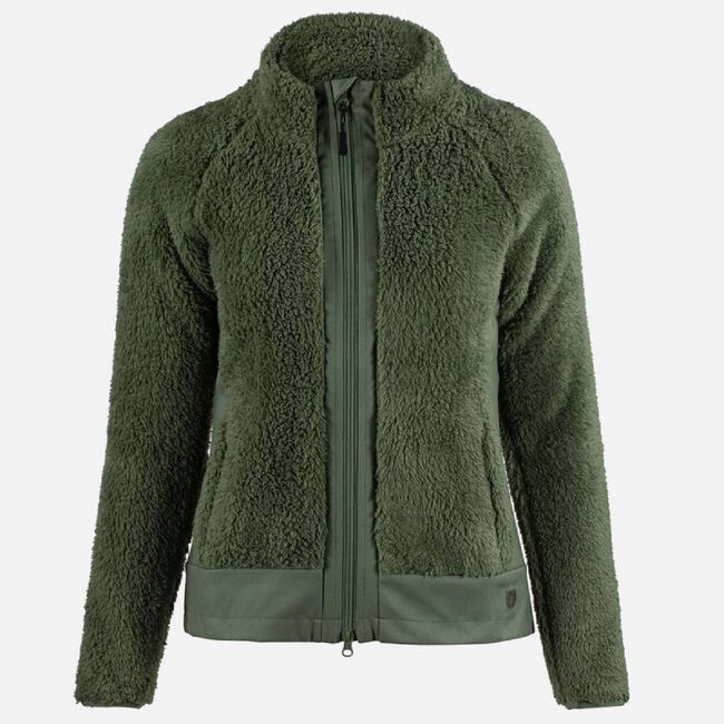 Horze Deanne Women's Softshell Fleece Jacket - Loden Green image number null