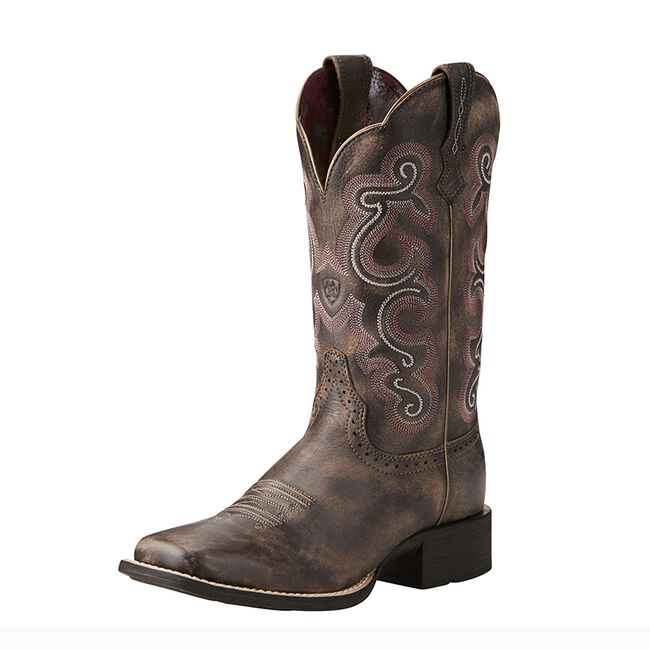 Ariat Women's Quickdraw Western Boot -6-Tack-Room-Chocolate image number null