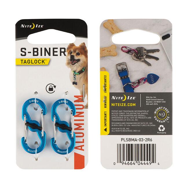 NiteIze S-Biner Taglock Aluminum 2pack - Blue image number null