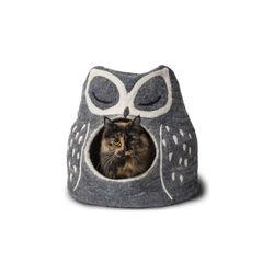 Dharma Dog Karma Cat Wool Pet Cave Owl Grey Cat Bed