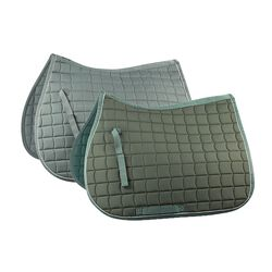 Horze All Purpose Saddle Pad with Silver Piping