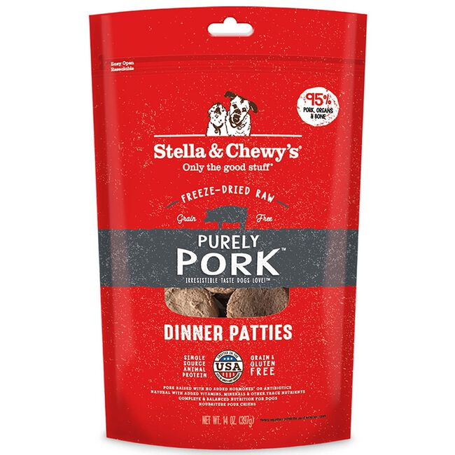 Stella & Chewy's Purely Pork Freeze-Dried Raw Dinner Patties image number null