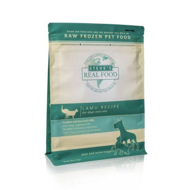 Steve's Raw Frozen Lamu Recipe Dog & Cat Food - Nuggets - 5 lb  image number null
