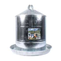 Farm Tuff Galvanized Poultry and Game Bird Waterer 5 Gal