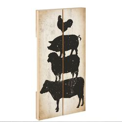 Timeless By Design Farm Animal Stack Wall Decor