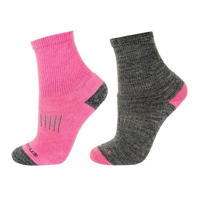 Janus Kids' Terry Wool Socks - 2 Pair - Pink image number null