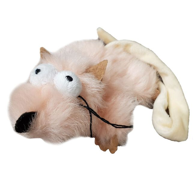 Steel Dog Combo Critter Catnip Toy - Pink image number null