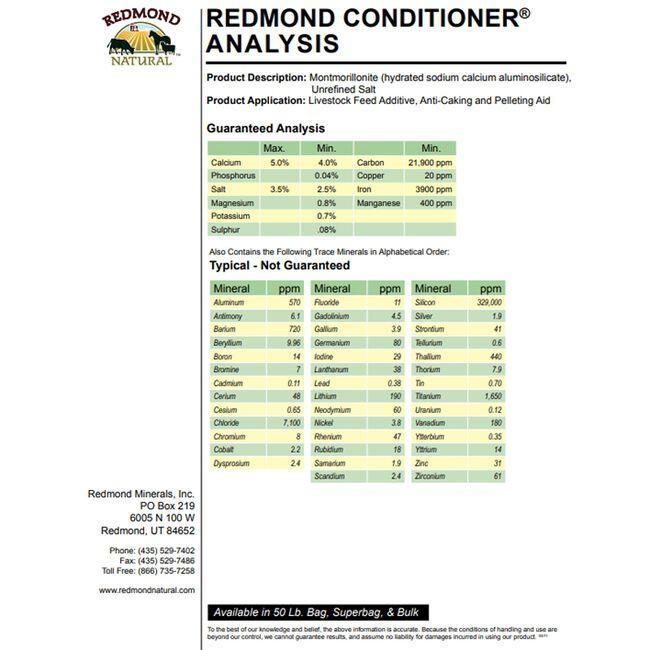 Redmond Livestock Conditioner Mineral Supplement image number null