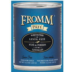Fromm Whitefish & Lentil Pate Canned Dog Food 12.2 oz