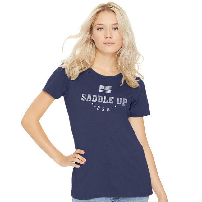 "Stirrups ""Saddle Up"" Short Sleeved Ladies Tee image number null"