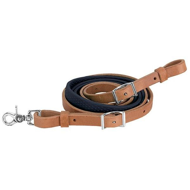 Weaver Leather Barrel Rein with Rubber Grip - Black image number null