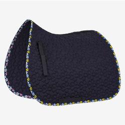 Horze Dressage Saddle Pad with Flower Print Binding