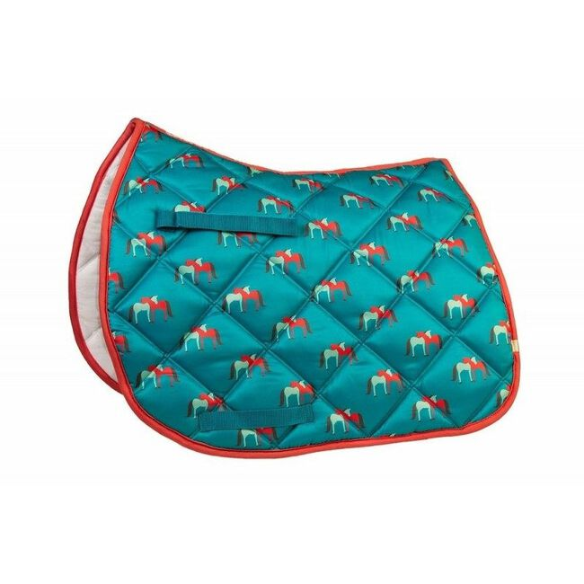 Union Hill LÉTTIA Collection Printed All Purpose Saddle Pad - Hugging Horses image number null