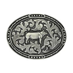 Montana Silversmiths Antiqued Classic Show Pig Attitude Buckle