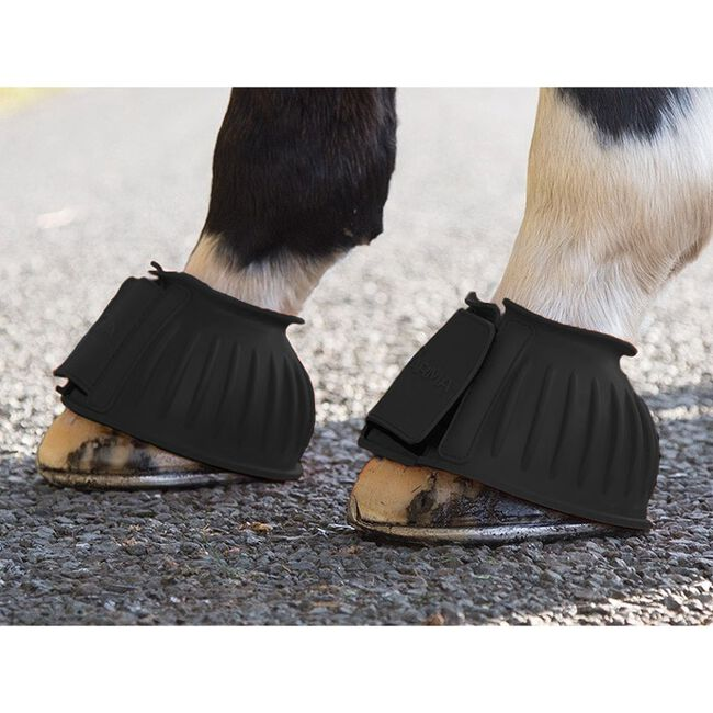 Shires ARMA Touch Close Bell Boots - Black image number null