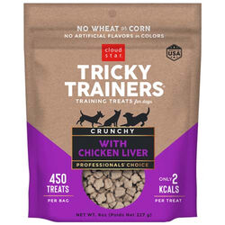 Cloud Star Tricky Trainers Dog Treats: Crunchy Liver