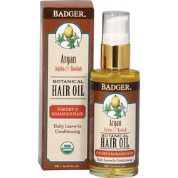 Badger Argan Hair Oil for Dry Damaged Hair