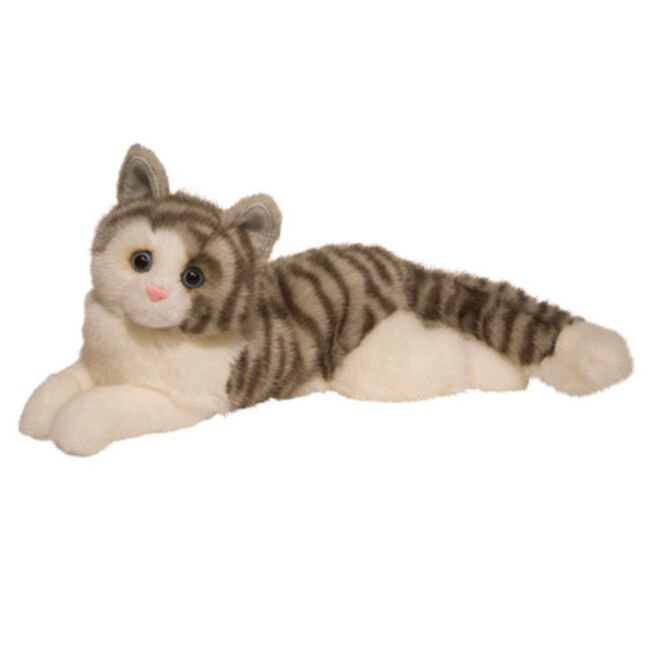 Douglas Smokey Gray Cat Plush Toy image number null