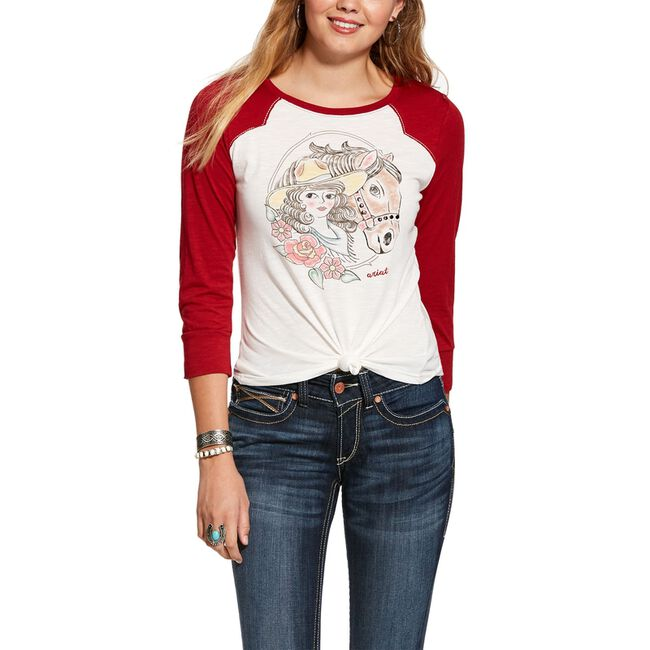 """Ariat """"Best Friend"""" Long Sleeved T-Shirt image number null"""