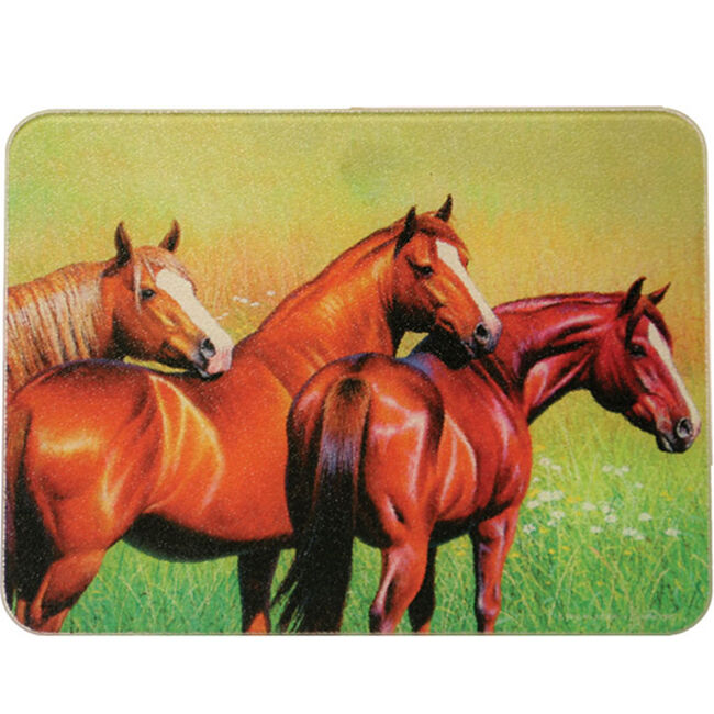 3 Horse Cutting Board image number null