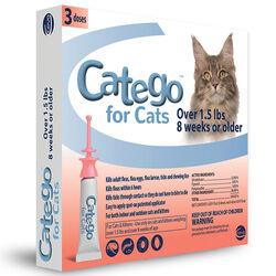Catego Flea, Tick and Lice Treatment for Cats 3 Pack