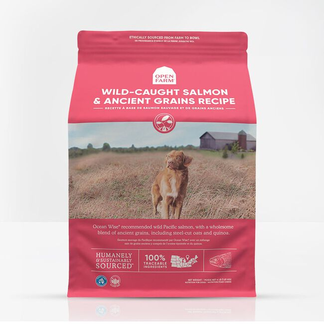 Open Farm Wild-Caught Salmon & Ancient Grains Dry Dog Food- 4lb image number null