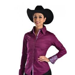 RHC Equestrian Ladies Buck Stitch Button Down Show Shirt